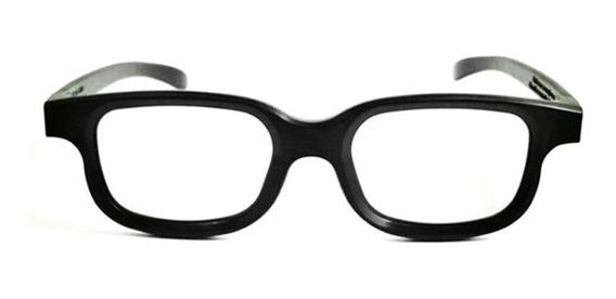 1pair Polarizado 3d Óculos Preto Frame Para Tridimensional