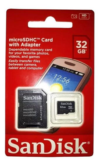 Cartão Memória Micro Sd 32g Sandisk Original Classe 4 Sdhc