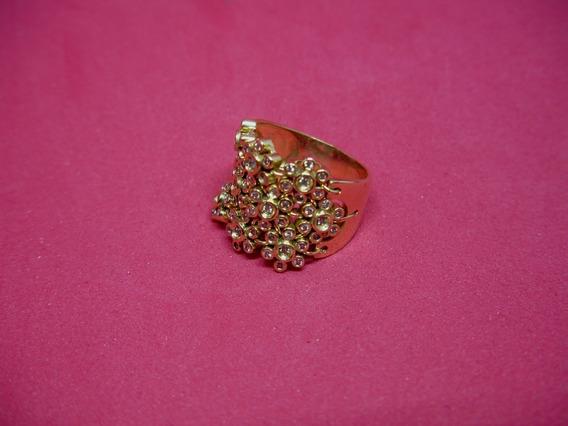Anel Articulado Com 13.8 Gramas Ouro 18k/750 E Brilhantes