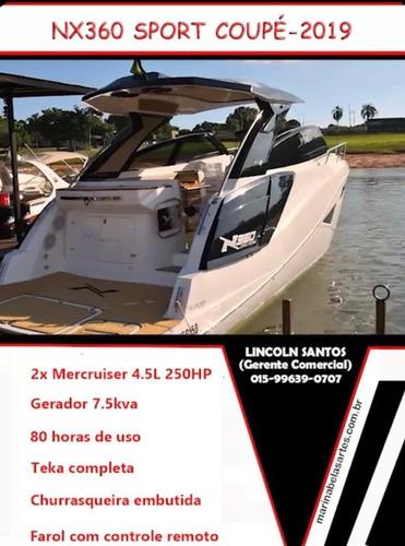 Imagem 1 de 15 de Lancha Nx 360 Sport Coupe 2019 Ñ Cimitarra Sessa