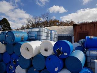 Tanque Plastico 200 Litros Usado 2 Tapones