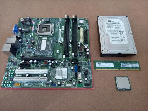 Placa Mãe Quad Core + Processador Dual Core + Memória + Hd