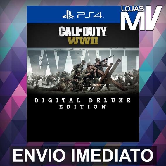 Call Of Duty Ww 2 Deluxe - Ps4 Código 12 Dígitos