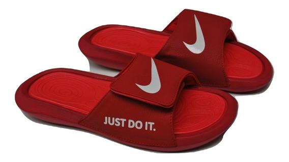 Kp3 Cholas Pantuflas Caballeros Nike Air Jordan Rojo Blanco