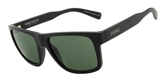 Óculos Evoke For You | Ds12 A03 - Black Matte / Green