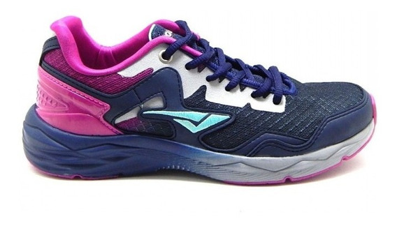Tênis Feminino Caminhada Corrida Bouts - Azul