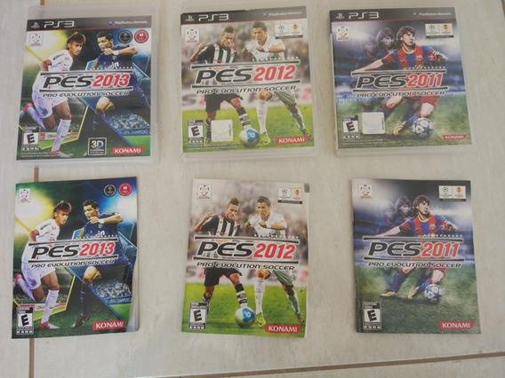 3 Jogos De Pes Para Ps3 Playstation 3 Usados