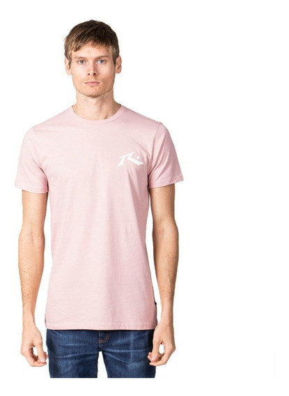 Remera Hombre Rusty Competition Rosa
