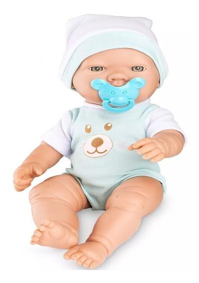 Boneco Bebê Bebêzinho Real Menino Azul Estilo Reborn Roma