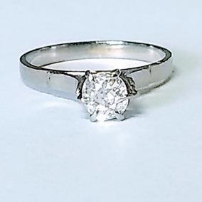 Anel Feminino Solitário Diamante 40 Pontos Ouro 18 K 750