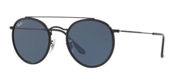 Oculos De Sol Ray Ban Rb3647n 002/r5 51mm Preto Lente Cinza