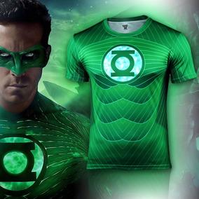 Playera Corta Comics Superheroes Linterna Verde Hombre Xtr C