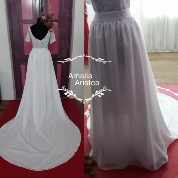Pollera P/armar Tu Vestido De Novia Casamiento Iglesia Gasa
