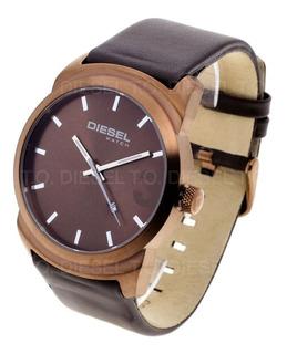 Reloj Diesel Hombre 6629-044 Acero Cuero Fecha Sumergible