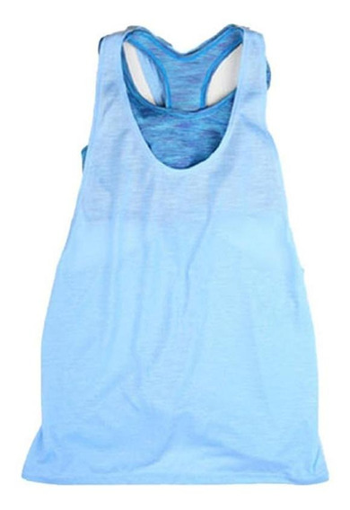 Camiseta Regata Feminina Gola Redonda Sem Mangas Patch Fitne