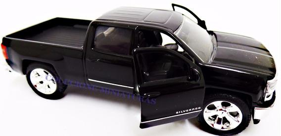 Chevrolet Chevy Silverado Pickup Ano 2014 Preta Jada 1:32