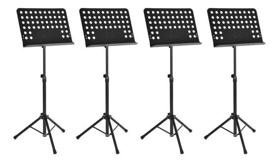 Kit 4 Estante Suporte Tripé Partitura Maestro Resistente