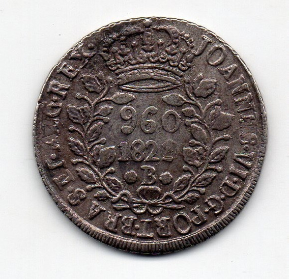 960 Reis 1821b 2b Data Emendada 1820 Mexico Fm