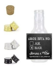 20 Rótulos Adesivos Personalizados Chá Bar+ Garrafinha 50 Ml