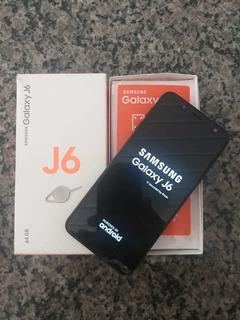 Celular J6 Samsung Com 64gb E Biometria Trincado