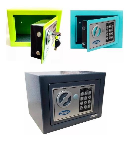 Caja Fuerte De Seguridad Digital Zurich Acero 3 Colores