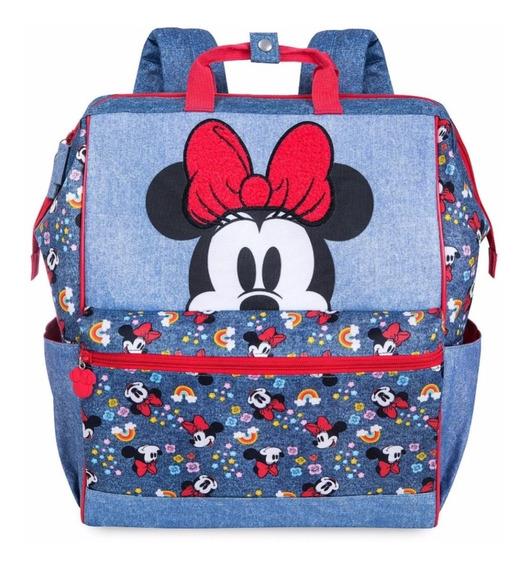 Disney Store Mochila Minnie Mouse Mezclilla 100% Original