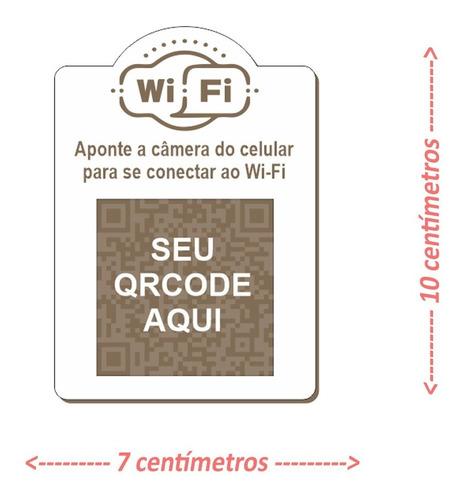 Placa Wi-fi Com Qr Code Em Mdf 3mm - Personalizado - 2un
