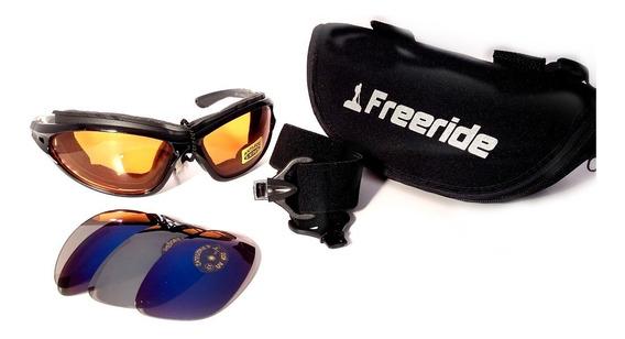 Gafas Sol O Nieve Espejado Intercamb Elastica Negro Espumado