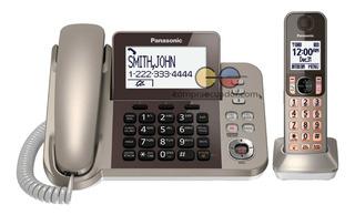 Panasonic Teléfono Base Fija + Inalámbrico 6.0 Dect Kxtgf350
