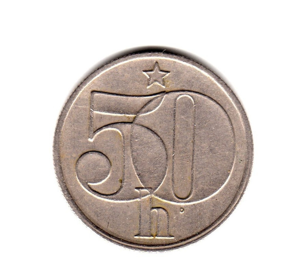 Checoslovaquia Moneda 50 Haleru Año 1978 Km#89