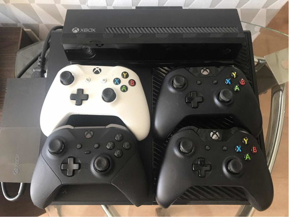 X Box One + Kinect + 1 Controle Elite + 3 Controles Orig.