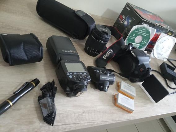 Canon T5i, Lente 18-55, Flash Yn Com Transmissor