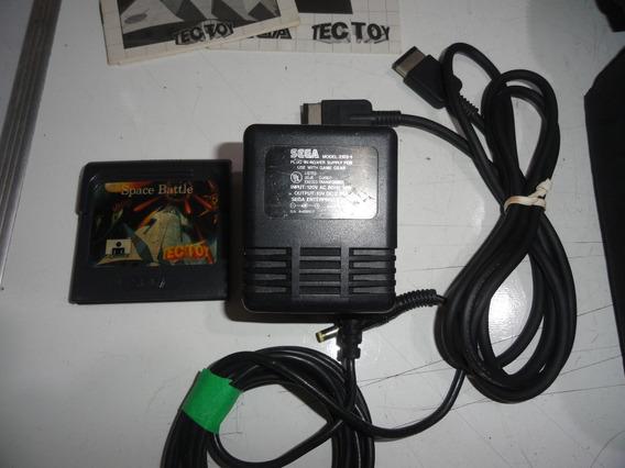 Lote De Acessórios Kit Sega Game Gear C/ Fonte
