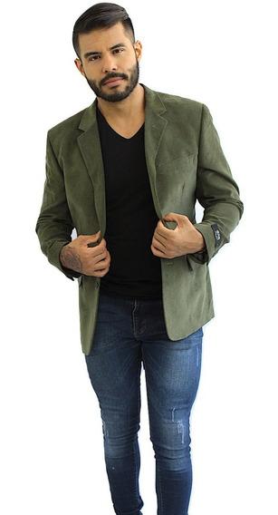 Blazer Hombre Saco Slim Suede Militar Colucci Envio Gratis