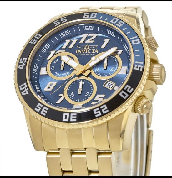 Promoção Relógio Invicta Original Dourado Pro Dive 50mm