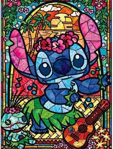 5d Pintura Por Diamantes Kit Stitch Disney