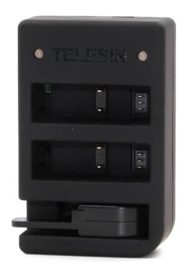 Carregador Telesin Gopro Hero 4 Hero 5 6 7 Black E Controle