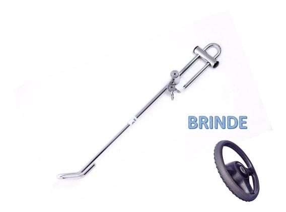 Trava Cromada Volante Pedal Anti Furto + Brinde Gm Astra