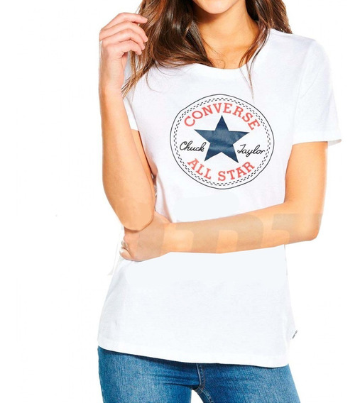 Remera Converse Mujer Patch Tee B5538391 8302