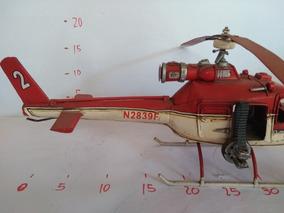 Enfeite De Lata , Decoração De Lata, Helicóptero De Lata