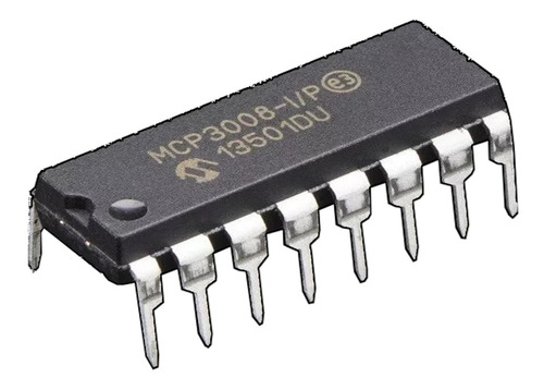 Mcp3008 - 8-ch 10-bit Adc Con Interface Spi