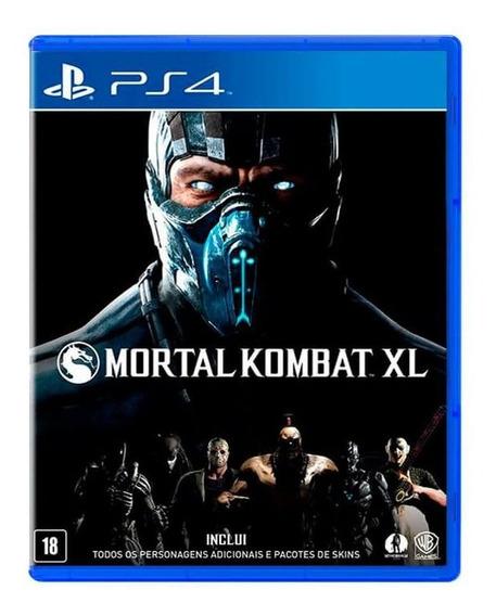 Jogo Mortal Kombat Xl Ps4 Mídia Física Playstation Lacrado
