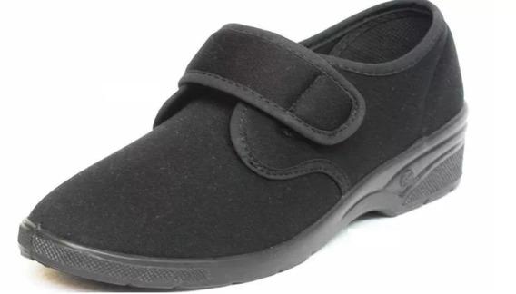 Zapatillas Zapatos Mocasin Tela Elastizado Abrojo Dama Donna