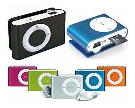Mini Reproductor Mp3 Shuffle Colores Música Detal Y Mayor