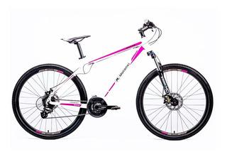 Bicicleta Motomel R27.5 Mtb Maxam 375 Tm Blanco Y Violeta