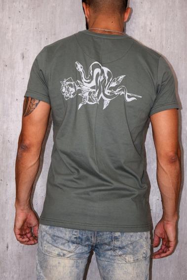 Remera Hombre Pack 10 Unid Verde Serpiente