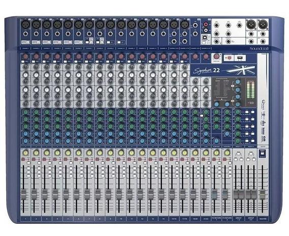 Mesa De Som Soundcraft Signature 22 Canais Usb C/nota Fiscal
