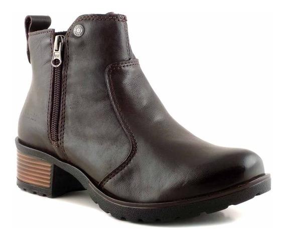 Bota Mujer Botineta Invierno Cuero Briganti Zapato Mcbo24886