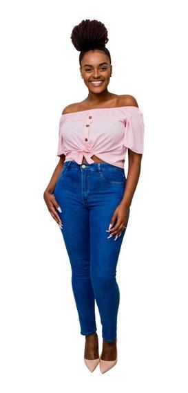 Calça Jeans Feminina Super Lipo Sawary Cintura Alta Novidade