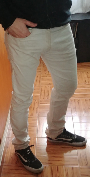 Pantalon Jean Blanco/sucio Basement T.42 Impecable! Oferta